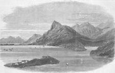 CROATIA. Gravosa, Dalmatia. Harbour , antique print, 1870