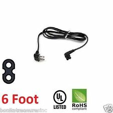 6 foot Angled Figure 8 2-Prong AC Power Cord For Samsung Sony Sharp LED LCD TV
