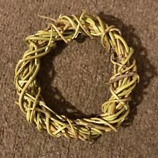 Mini Handmade Willow Wreath Eco Friendly For Christmas Crafts 4.5in