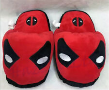 Deadpool Anime Women Men Winter Warm Plush Slippers Indoor Carpet Shoes New