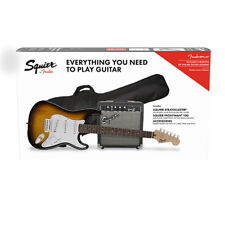 Fender Squier Stratocaster Guitar and Squier Frontman 10G Amp Pack - Sunburst