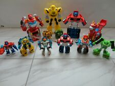 Lot Of 12 Transformers Rescue Bots Playskool Heroes Optimus Prime + Heatwave +