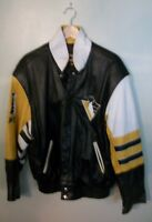 Jeff Hamilton Pittsburgh Penquins Back to Back Stanley cup leather jacket.
