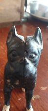 Antique Vintage Some paint Cast Iron Dog Coin still Bank Boxer Terrier Animal