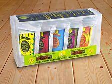 Mezclas de especias condimento experimentados pioneros orgánicos 5 X Paquetes Resellables Conjunto de Regalo