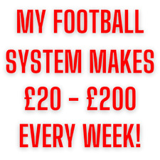 FOOTBALL SYSTEM for 2021: (May 2nd Results - 100% Winners) (Make Money Online)