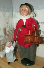 Byers Choice Caroler Nanny Mary Poppins with Child Picnic Basket Umbrella 1998 *