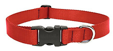 "Lupine 22553 Adjustable Dog Collar 16"" to 28"" Red"