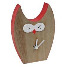 Standuhr ~  EULE ~ rot / 17cm ~ Süße Uhr aus Holz, lackiert