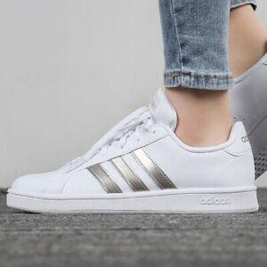 Adidas Grand Court Base Women's Athletic Casual Tennis Sneaker White Tennis Shoe