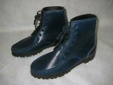 QUODDY Ladies Blue Leather Walking, Hiking Boots, Vibram Soles ~.Size 8.5 N