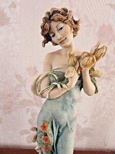 "G. ARMANI Figure Figurine Statue Sculpture ""Iris"" Lady Flowers Lotus Event 1995"