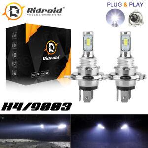 2x H4 9003 HB2 6000K Super White CSP LED Headlight Bulb Kit High Low Beam HB2