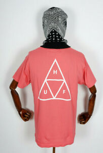 Huf Worldwide Skateboard T-Shirt Tee Triple Triangle Plastic Pink in M