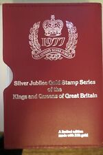 First Ed 1977 Silver Jubilee Gold Stamp Series King Queens of Great Britain Rare