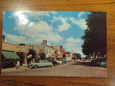 Postcard, Lake Geneva, Broad St. Looking North (  1950s Full Color)