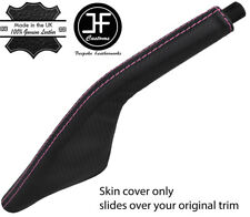 PINK STITCH CARBON FIBER VINYL HANDBRAKE BOOT FOR PORSCHE 924 944 968 75-95