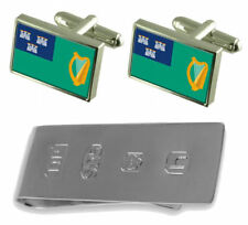 Dublin City Ireland Flag Cufflinks & James Bond Money Clip