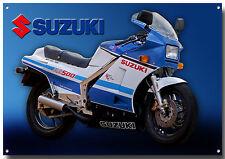 SUZUKI RG500 motociclo smaltata cartello in metallo, vintage SUZUKI motocicli