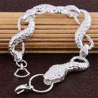 925 Silver Snake Bracelet Animal Bangle Suit Fashion Women Man Gift Jewelry