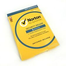NEW Norton By Symantec Security Deluxe - 3 Devices -Win /Mac/Android / iOS #3081