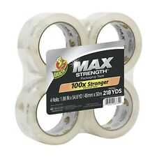 Duck Max Strength Packing Tape Refill 4 Rolls 188 Inch X 546 Yard Clear