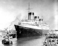 SS NORMANDIE FRENCH OCEAN LINER - 8X10 PHOTO (DA944)