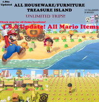 All Furniture/DIY 1.8.0 updated Treasure Island 1hr Unlimited Trips!New Horizons