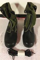 1960s GENESCO HOT WEATHER SPIKE PROTECTED INSOLES GREEN 13XN JUNGLE COMBAT BOOTS
