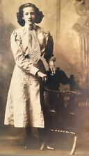Antique Cabinet Photo Beautiful Young Lady Victorian Edwardian Fashion Hair