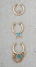Faux Septum Nose Ring nose cuff Set of 3 Body Candy - Free Ship From California