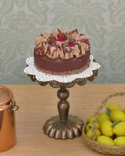 Dolls House Miniature gateaux and cake stand