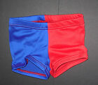 NWT Patriotic Jazz Tap Dance Red Royal Two Toned Spandex Shorts Ladies Szs