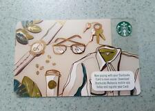Starbucks Malaysia Card Happy Fathers Day 2017 RARE Collectible Watch keys coat