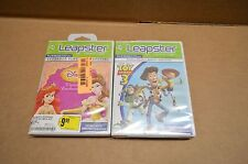 NEW Lot of 2  LeapFrog Leapster 1 & 2 Disney Pixar Toy Story 3 / Disney Princess
