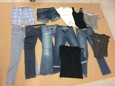 LOT OF WOMEN'S JEANS SHORTS BLOUSES CLOTHES LUCKY BRAND GUESS GAP BEBE HOLLISTER