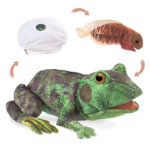 NEW PLUSH SOFT TOY Folkmanis 3115 Frog Life Cycle Tadpole Full Body Hand Puppet