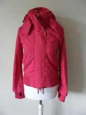 Superdry women's jacket size XS (8) pink hooded zipped lining mesh