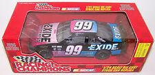 1996 Racing Champions 1:24 JEFF BURTON #99 Exide Ford Thunderbird