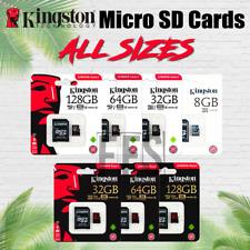Kingston Micro SD Card 8 16 32 64 128 gb Flash Memory lot All Sizes Retail OEM
