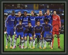 CHELSEA FC SQUAD - 2014-15 - A4 SIGNED AUTOGRAPHED PHOTO POSTER FREE POST