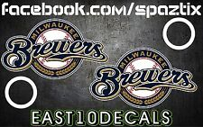 Milwaukee Brewers Cornhole Decal sticker 4 pc Set package deal!