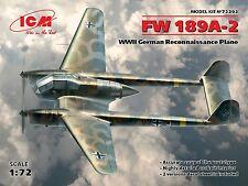 FOCKE WULF FW-189 A-2 UHU/RAMA RECCE PLANE (LUFTWAFFE MARKINGS) #72292 1/72 ICM