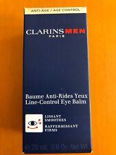 NEW Clarins Mens Paris Age Control Eye Balm 20ml .6 oz Factory Sealed Box