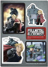 Fullmetal Alchemist Edward & Alphonse Elric Sticker Set Anime Licensed NEW