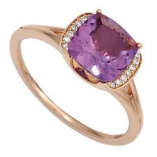 Ringe mit Amethyst echten Edelsteinen aus Rotgold