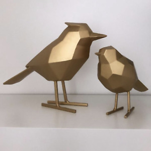 Scandinavian Geometric Gold Bird Ornament