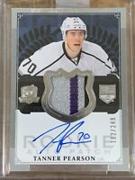 2013 14 UD THE CUP Tanner Pearson AUTO PATCH GOLD ROOKIE RC #162/249 39/70 04/25