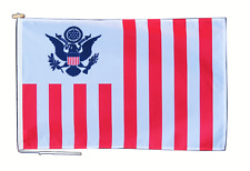 More details for united states customs flag with rope and toggle - various sizes