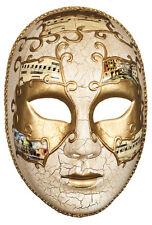 Maske Mask maschera máscara venezianisch donna gold-cremeweiß
